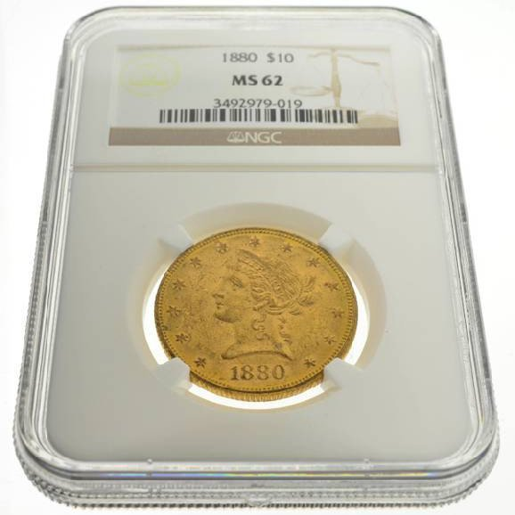 1880 $10 US Liberty Head Type Gold Coin - Investment