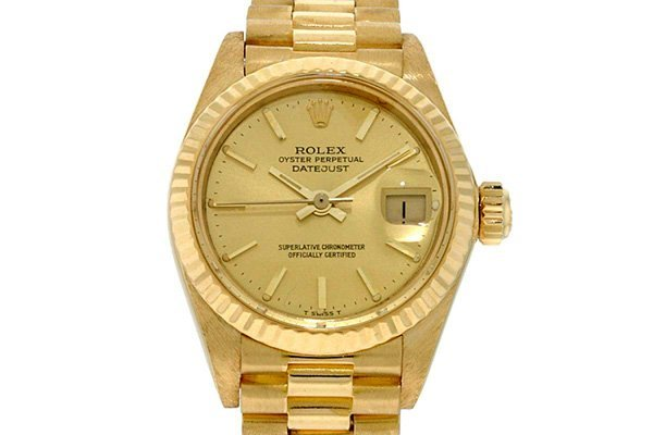 Ladies Rolex Oyster Perpetual Datejust President Gold W