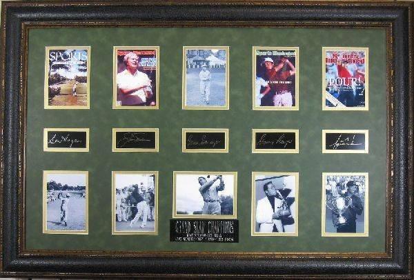 Golf Grand Slam Champions - Plate Signatures