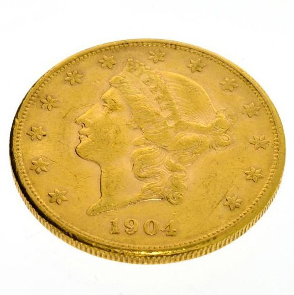 1904-S $20 Double Eagle U.S. Gold Coin - Investment