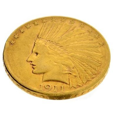 1911 $10 U.S. Indian Head Gold Coin - Investment