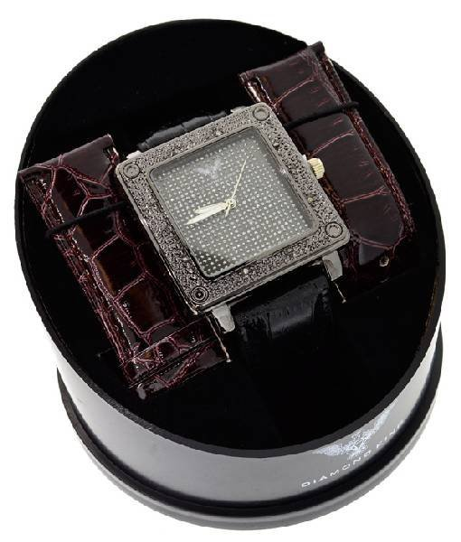Diamond King Men's Square Stainless Steel Watch