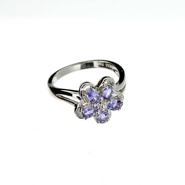 APP: 1k 0CT  Tanzanite & Platinum Sterling Silver Ring