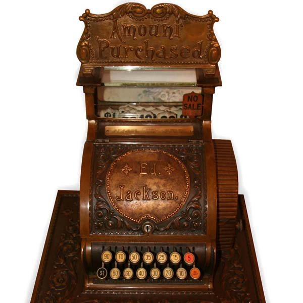 Extremely Rare Early Fancy Cash Register-Mint Condition