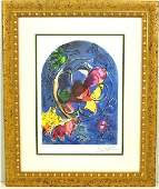 """MARC CHAGALL """"Stain Glass Windows"""" Museum Framed Print"""
