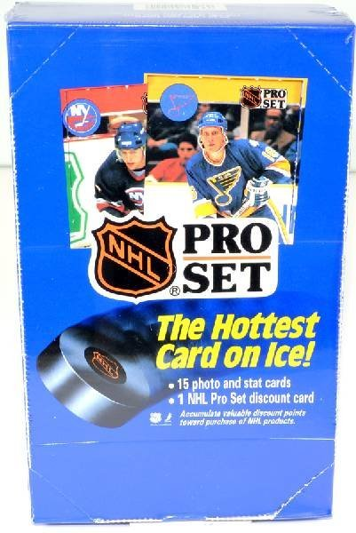 1990 Unopened Box of NHL Pro Set Hockey Cards 36ct