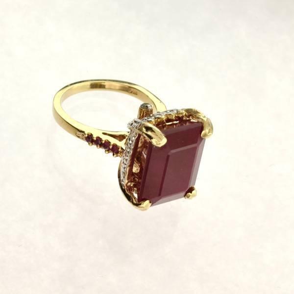 APP: 16k 14kt Yellow & White Gold, Ruby & Diamond Ring