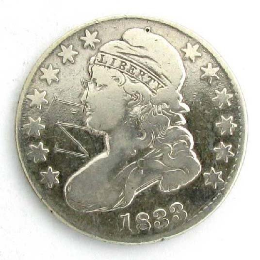 1833 U.S. Capped Bust Type Liberty 1/2 Dollar Coin
