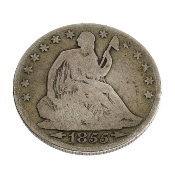 1855-O Liberty Seated Half Dollar Coin - Investment