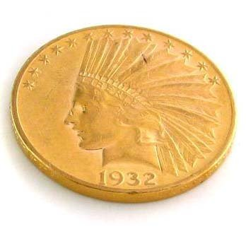 1932 U.S. $10 Indian Head Gold  Coin - Investment