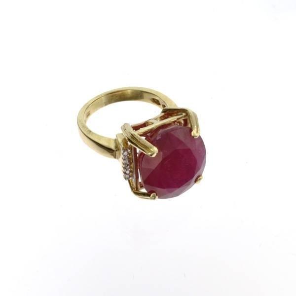 APP: 16.2k 14 kt. Gold, 17.20CT Ruby Ring
