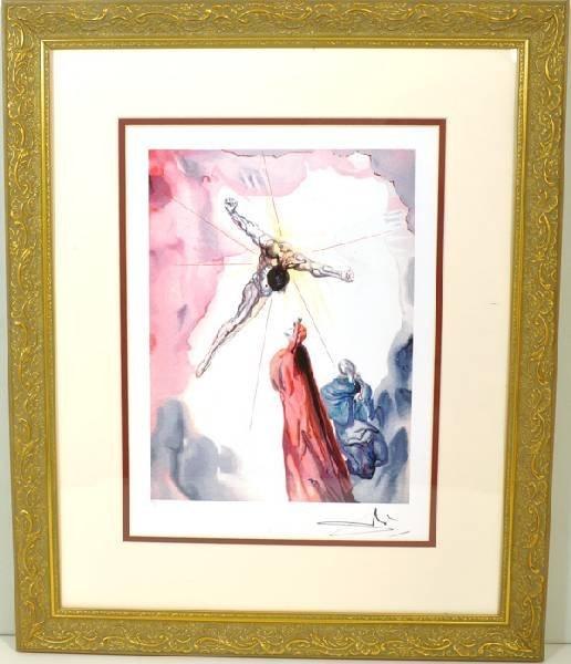 "SALVADOR DALI ""The Apparition Of Christ"" Framed Print"