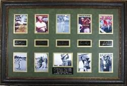 Golf Grand Slam Champions  Plate Signatures