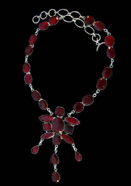 APP: 116.4k 223.81CT Ruby & Sterling Silver Necklace