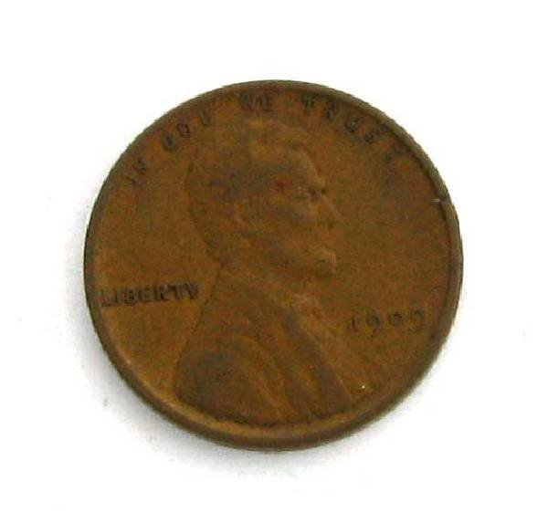 1909 Lincoln One Cent Coin - Investment