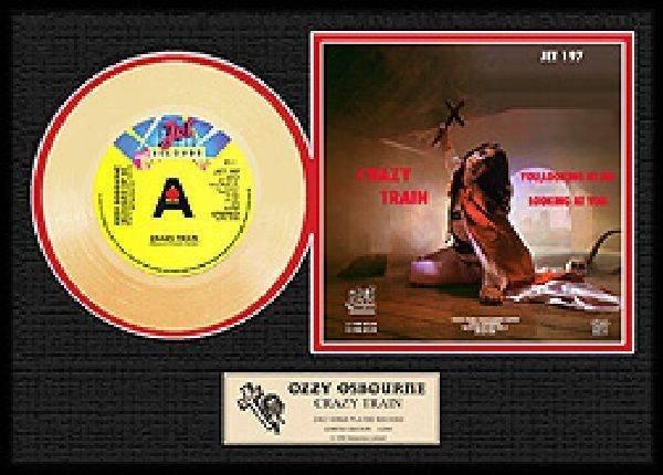 "OZZY OSBOURNE ""Crazy Train"" Gold Record"