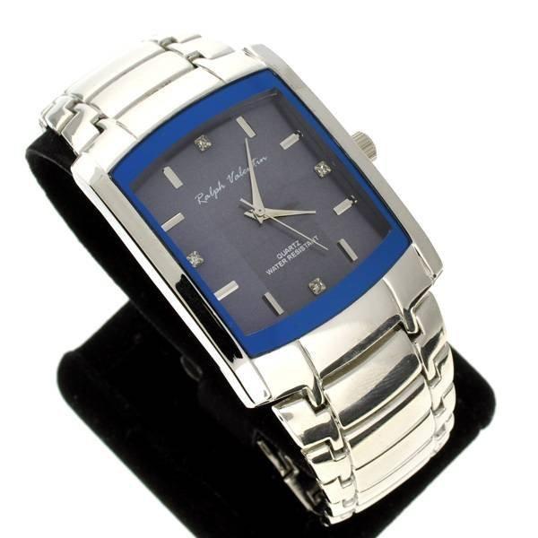 Ralph Valentin Men's Stainless Steel Diamond Watch