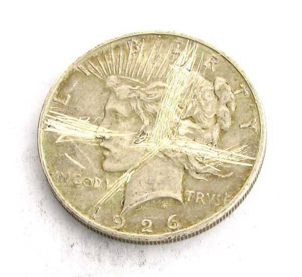 1926-D Peace Type Silver Dollar Coin - Investment