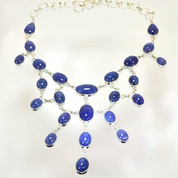 APP: 142k 245CT Cabochon Tanzanite & Silver Necklace