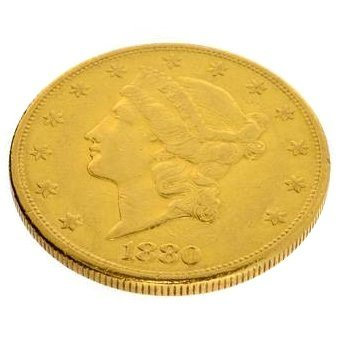 1880-S $20 U.S. Liberty Head Gold Coin - Investment