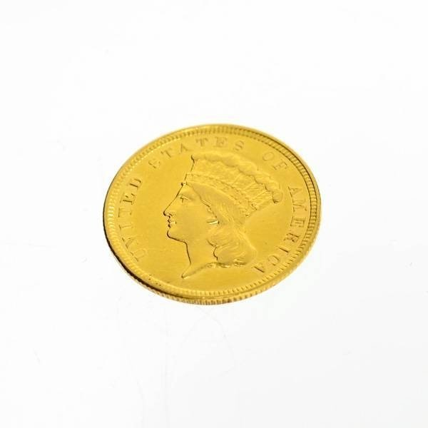 1854 U.S. $3 Indian Princess Gold Coin - Investment