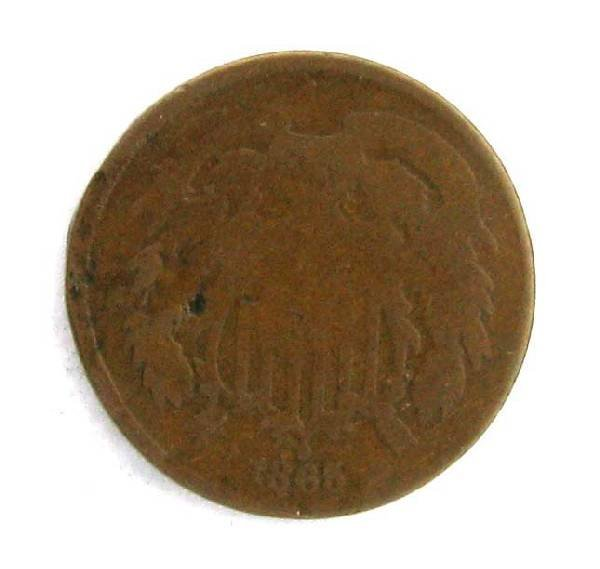 1865 Two Cent Coin - Investment
