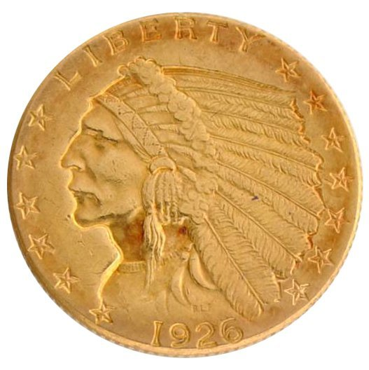 1925-D $2.5 U.S Indian Head Type Gold Coin - Investment