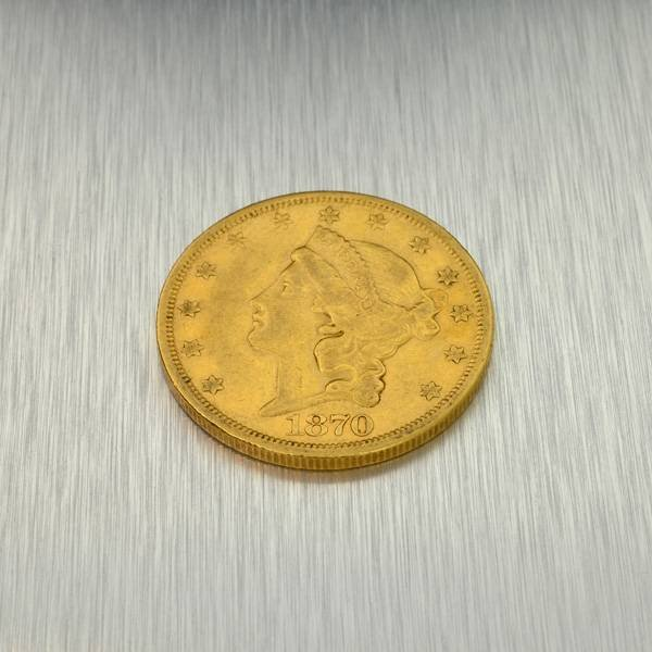 1870-S $20 U.S. Liberty Head Gold Coin - Investment