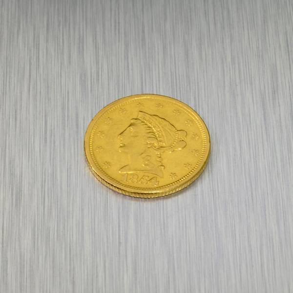 1854 $2.5 U.S. Liberty Head Gold Coin - Investment