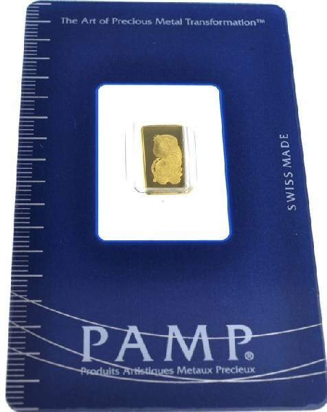 1 gram (999.9) Fine Gold Credit Suisse Coin