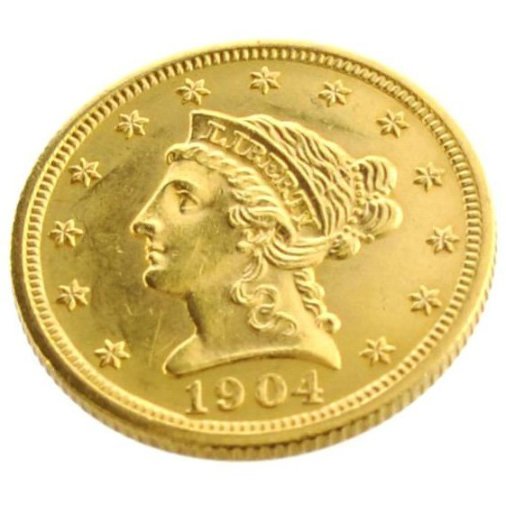 1904 U.S. $2.5 Liberty Head Gold Coin - Investment