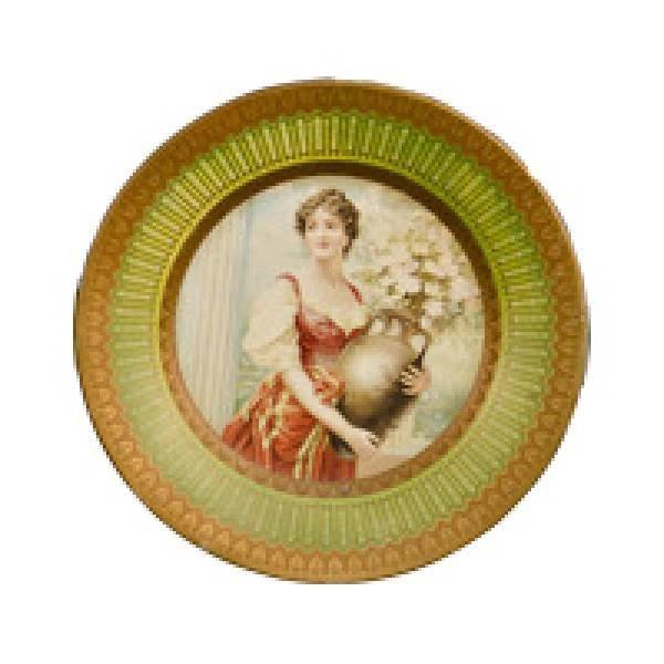 Round Tin Serving Tray - Pretty Ladies