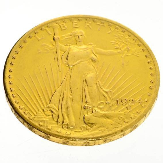 1924 $20 U.S. Saint Gaudens Gold Coin - Investment