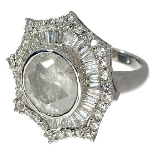 APP: 89.5k 18 kt White Gold, 8.08CT Diamond Ring