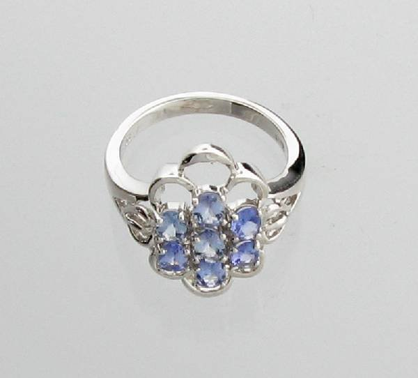 APP: 1k 1CT  Oval Cut Tanzanite & Sterl Silver Ring