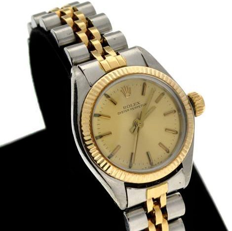 Rolex Women's Oyster Perpetual Steel & Gold Watch