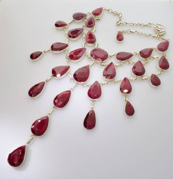 APP: 52.9k 383.89CT Ruby & Sterling Silver Necklace