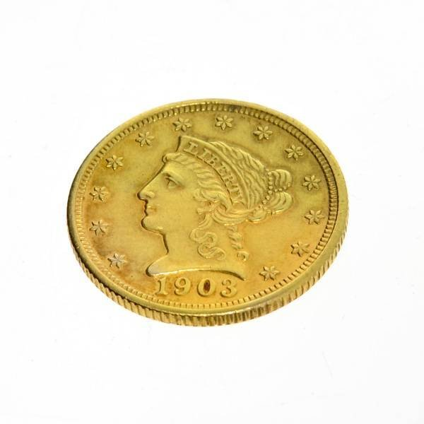 1903 $2.5 U.S Liberty Head Gold Coin - Investment