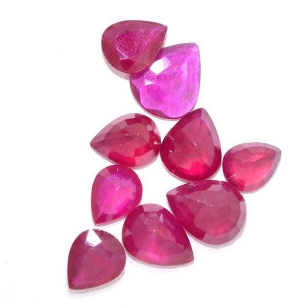 APP: 27.6k 25.13CT Pear Cut Ruby Parcel