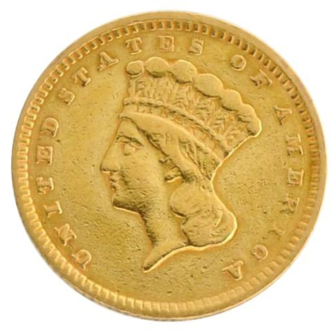 1856 $1 U.S Indian Head Type Gold Coin - Investment