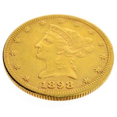 1898 $10 U.S. Liberty Head/Double Eagle Gold Coin