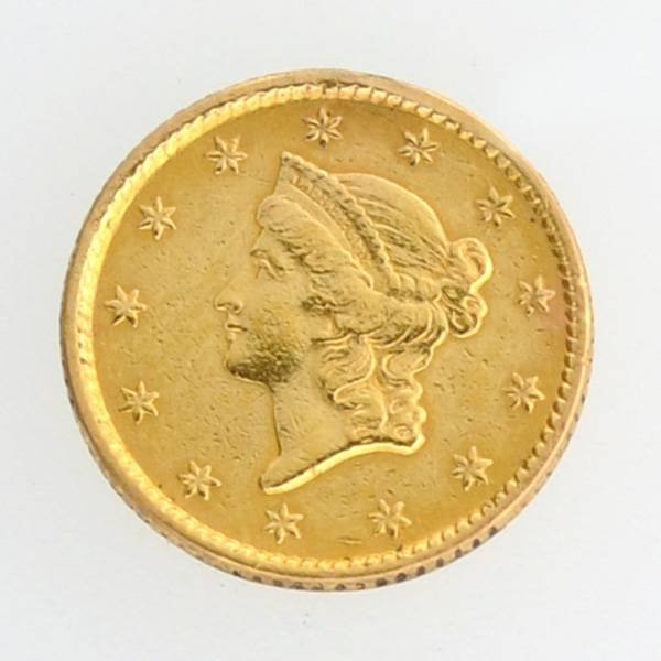 1853 $1 U.S Liberty Head Type Gold Coin - Investment