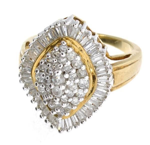 APP: 7.3k 14kt White & Yellow Gold, 1.25CT Diamond Ring