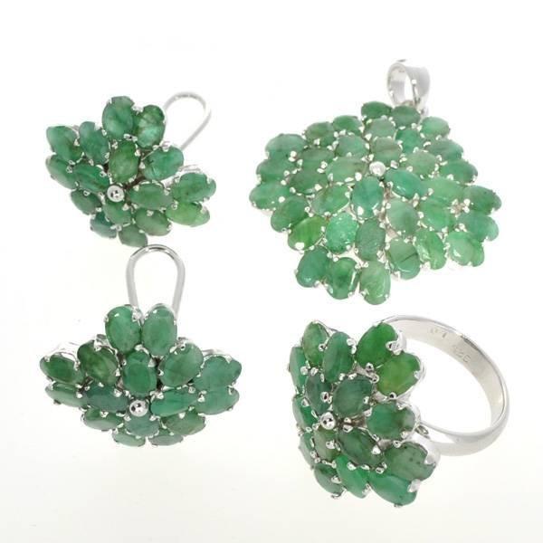 APP: 34k 35CT Ruby & Ring, Pendant, & Earrings Set