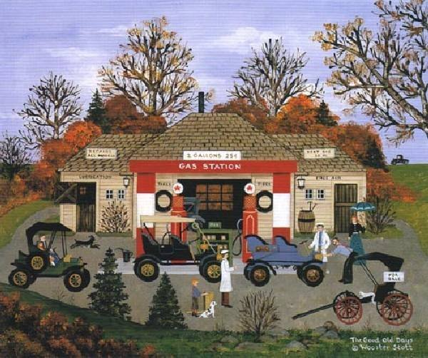 JANE WOOSTER SCOTT The Good Old Days Print, Limited Edn
