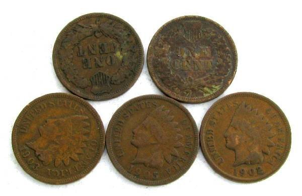 5 Indian Head One Cent Coin - Investments