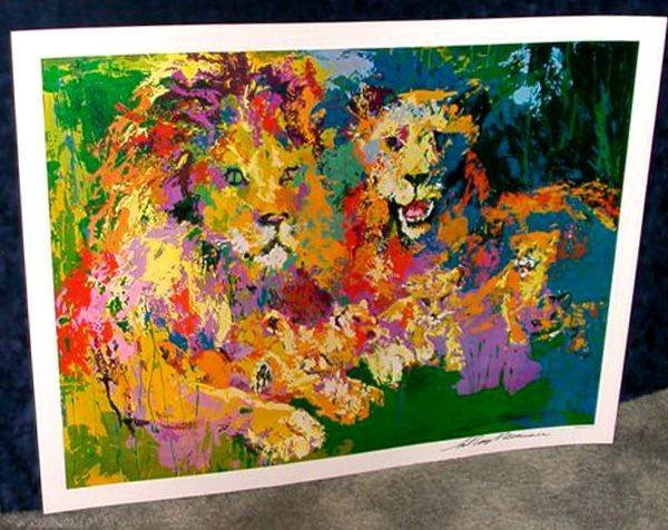 Hand Signed LeRoy Neiman: Lions Pride