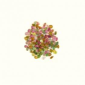 APP: 3k 21 CT Pear Cut, Multi-Colored Tourmaline Parcel