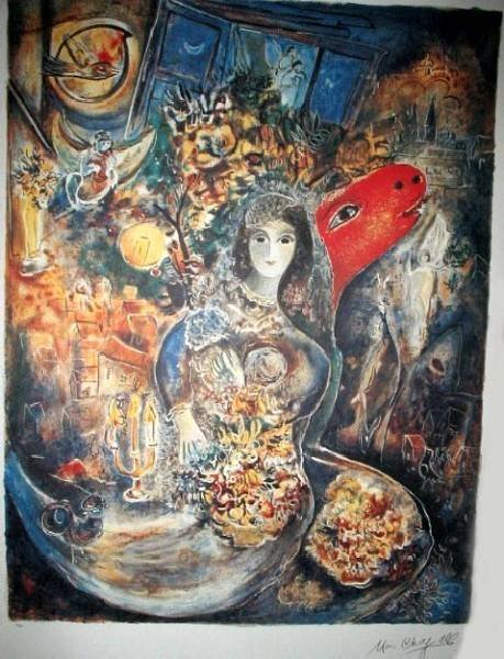 MARC CHAGALL Bella Print, Limited Edition