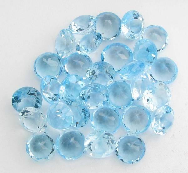 102.00CT French Brilliant Blue Topaz Parcel